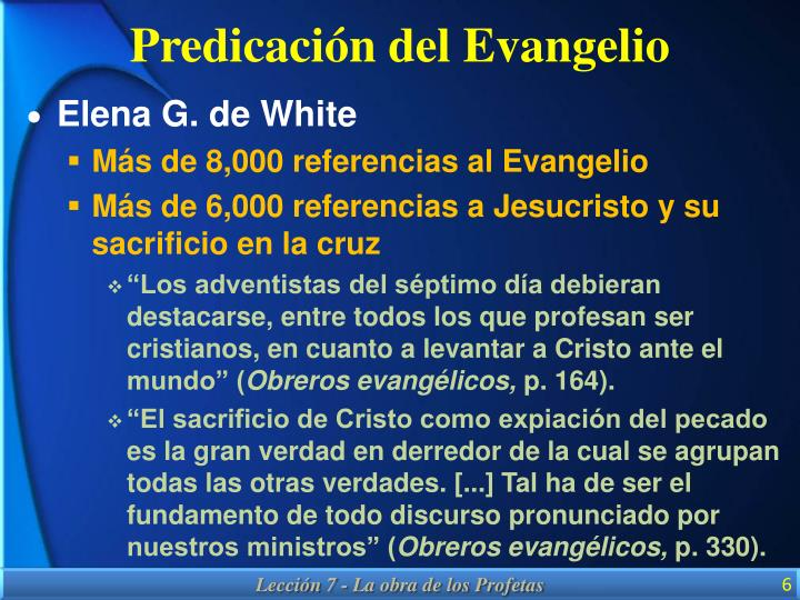 Predicación del Evangelio