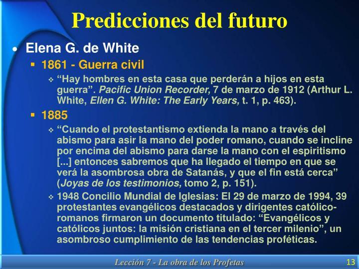 Predicciones del futuro
