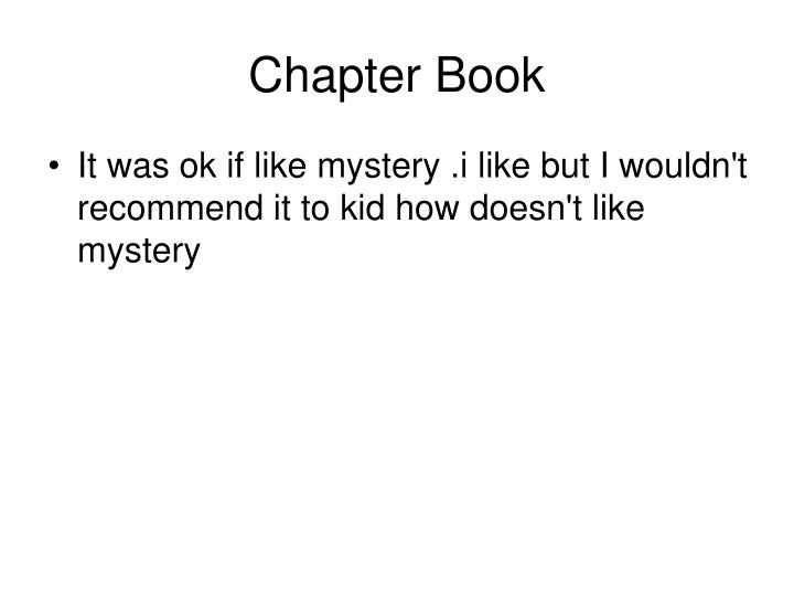 Chapter Book
