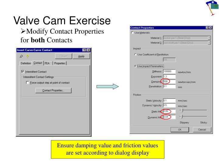 Valve Cam Exercise