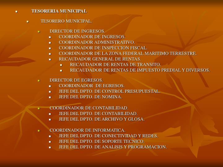 TESORERIA MUNICIPAL