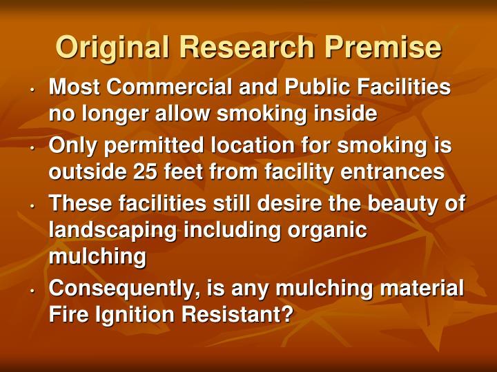 Original Research Premise