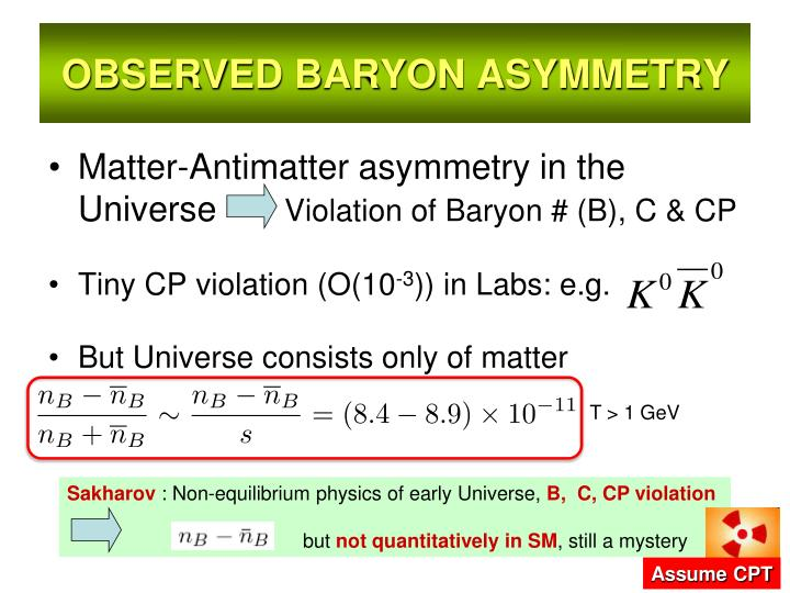 OBSERVED BARYON ASYMMETRY