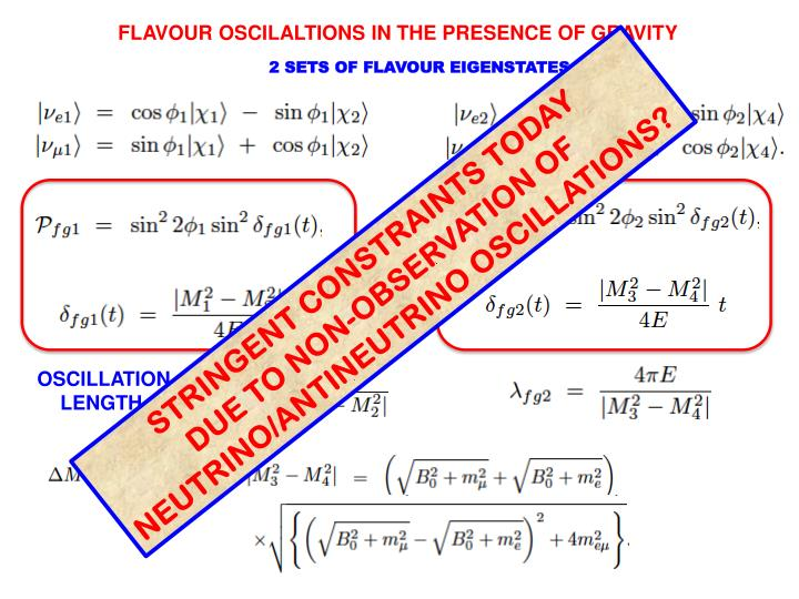 FLAVOUR OSCILALTIONS IN THE PRESENCE OF GRAVITY