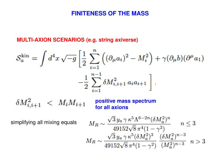 FINITENESS OF THE MASS