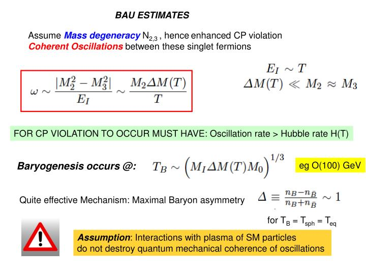 BAU ESTIMATES