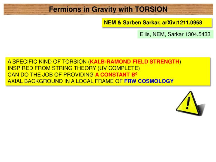 Fermions in Gravity with