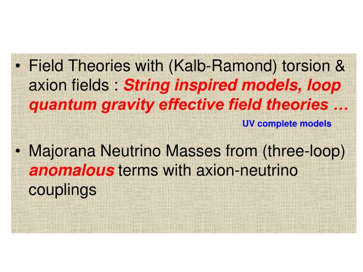Field Theories with (Kalb-