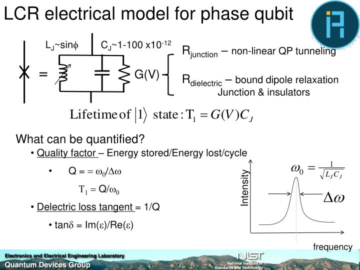 LCR electrical model for phase qubit