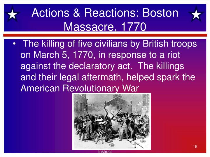 Actions & Reactions: Boston Massacre, 1770