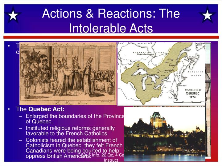 Actions & Reactions: The Intolerable Acts