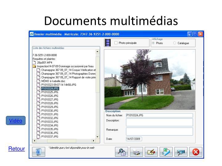 Documents multimédias