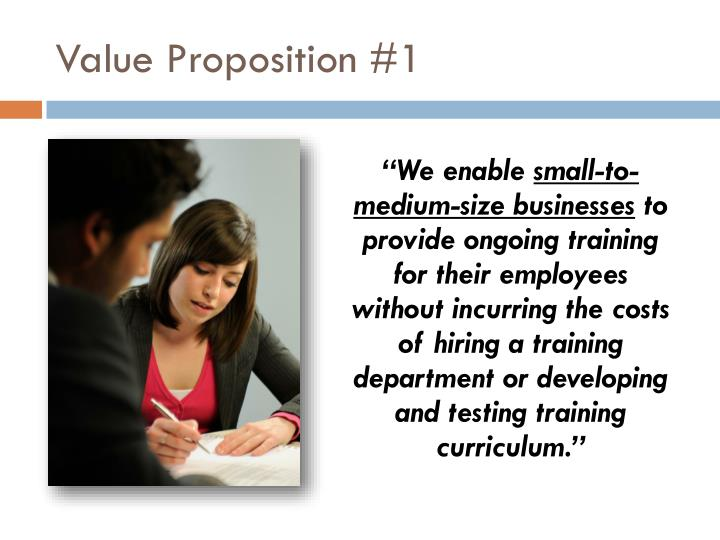 Value Proposition #1