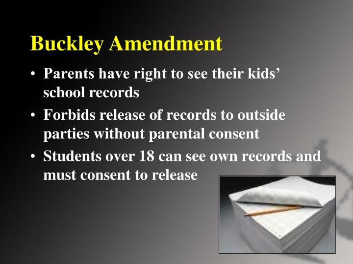 Buckley Amendment