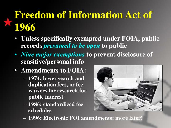Freedom of Information Act of 1966