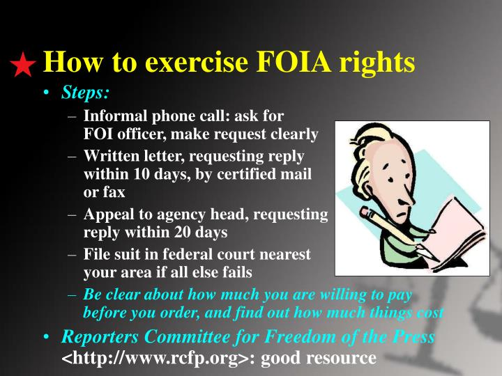 How to exercise FOIA rights
