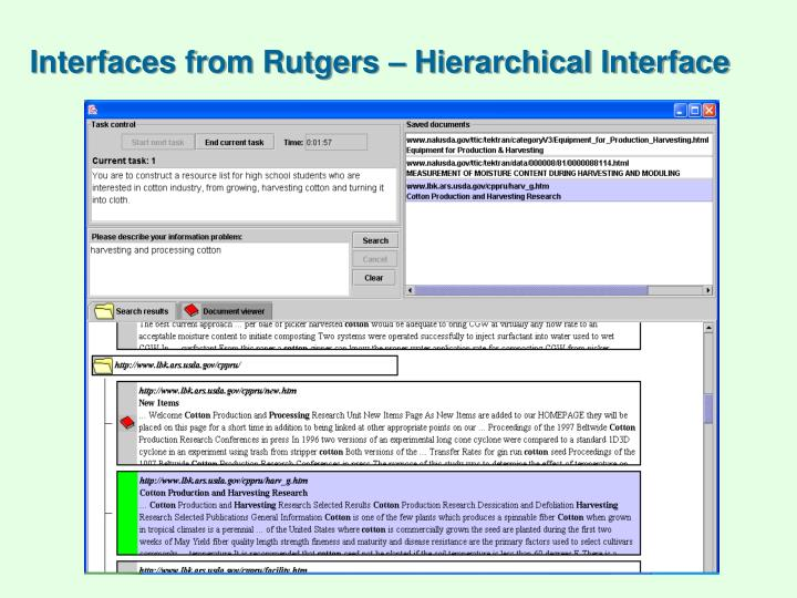 Interfaces from Rutgers – Hierarchical Interface