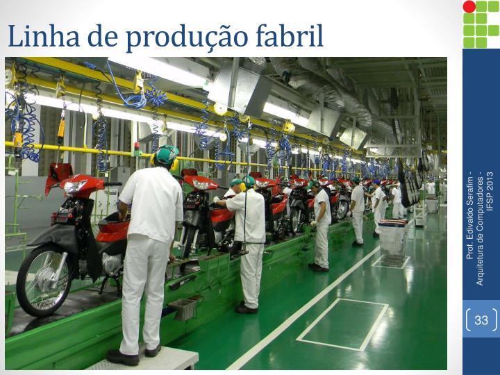 Linha de produção fabril