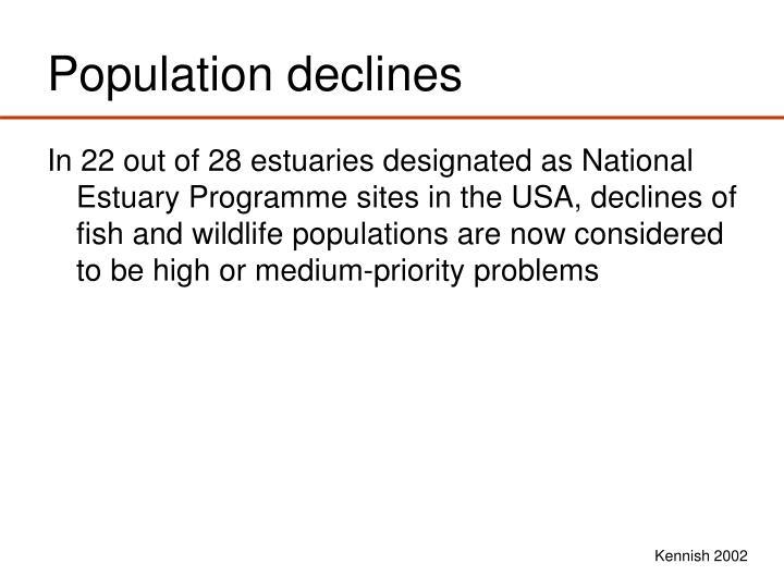 Population declines