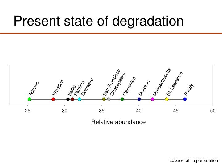 Present state of degradation