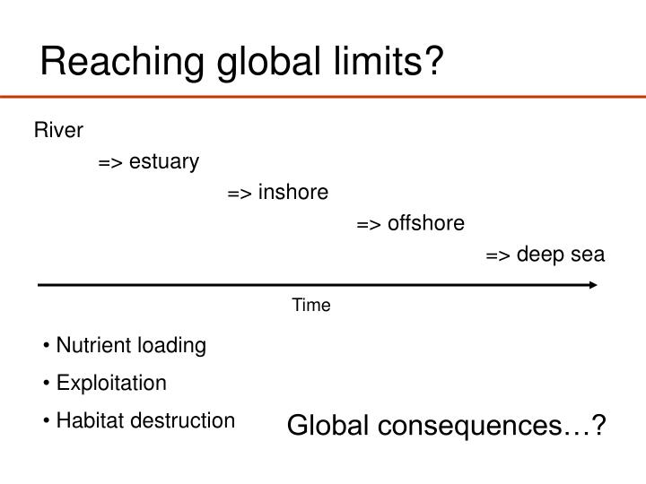 Reaching global limits?