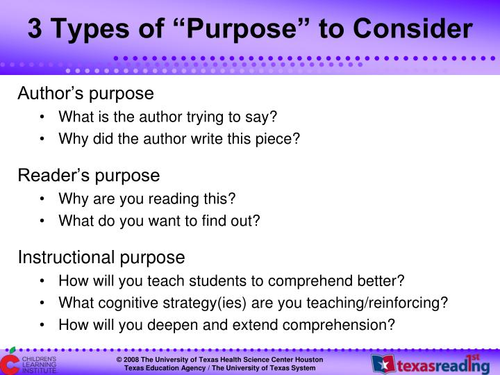 "3 Types of ""Purpose"" to Consider"