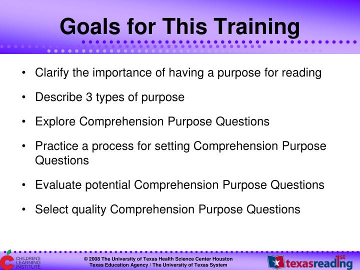Goals for This Training