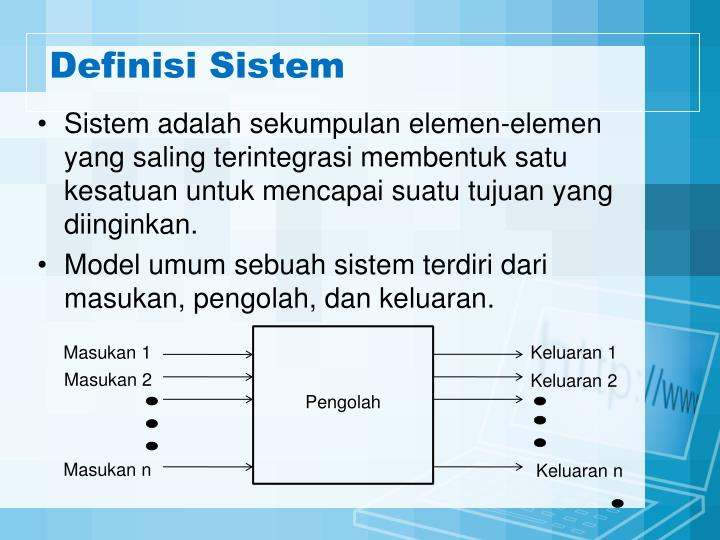 Definisi Sistem