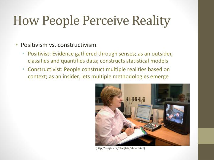 How People Perceive Reality