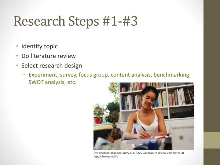 Research Steps #1-#3
