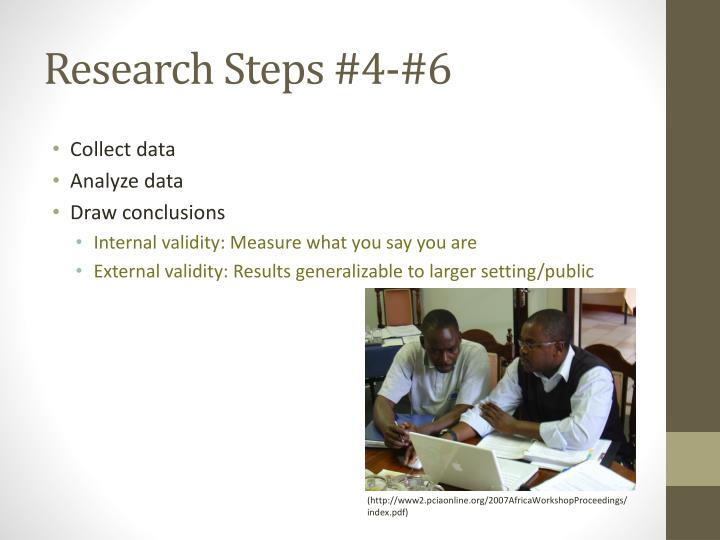 Research Steps #4-#6