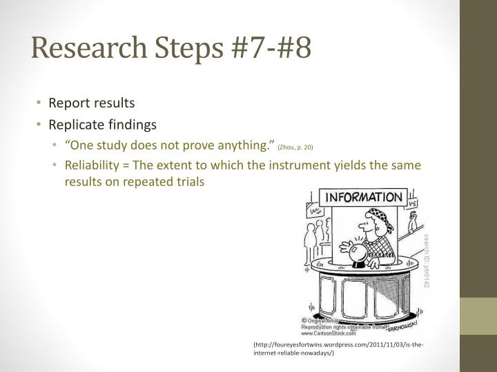 Research Steps #7-#8