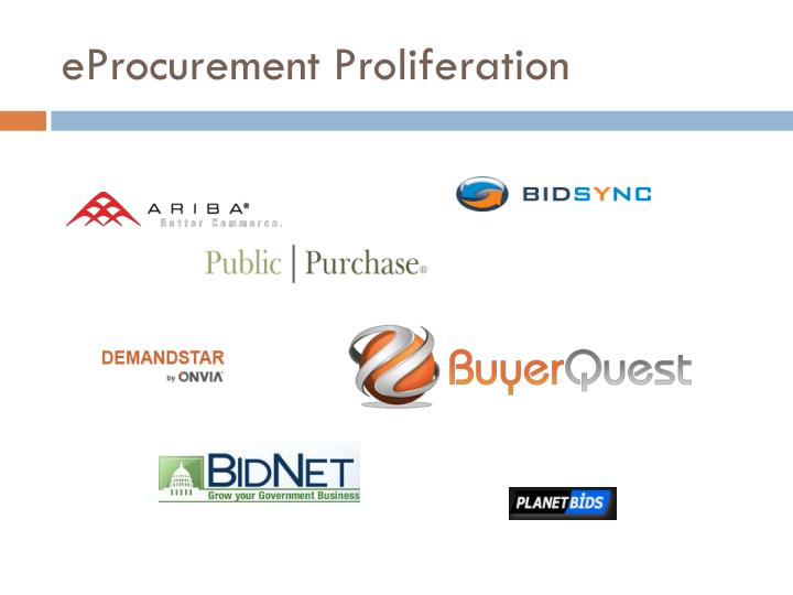 eProcurement Proliferation