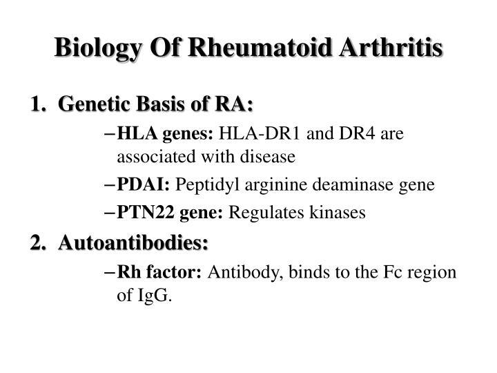 Biology Of Rheumatoid Arthritis