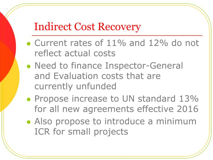 Indirect Cost Recovery
