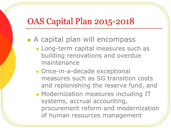 OAS Capital Plan 2015-2018