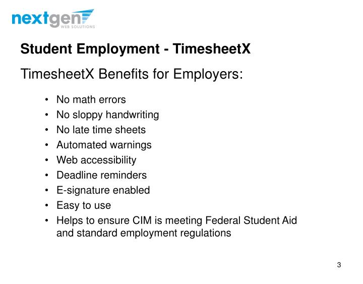 Student Employment -