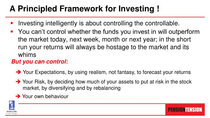 Investing intelligently is about controlling the controllable.