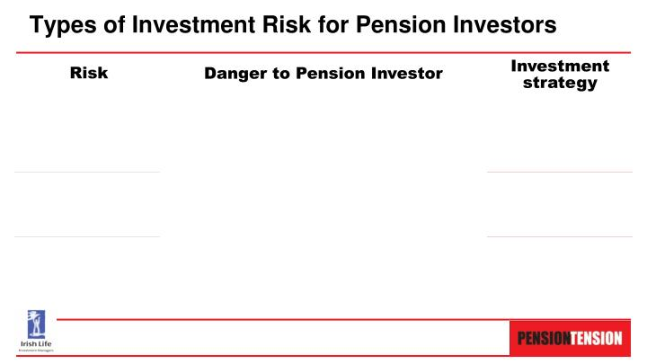 Types of Investment Risk for Pension Investors