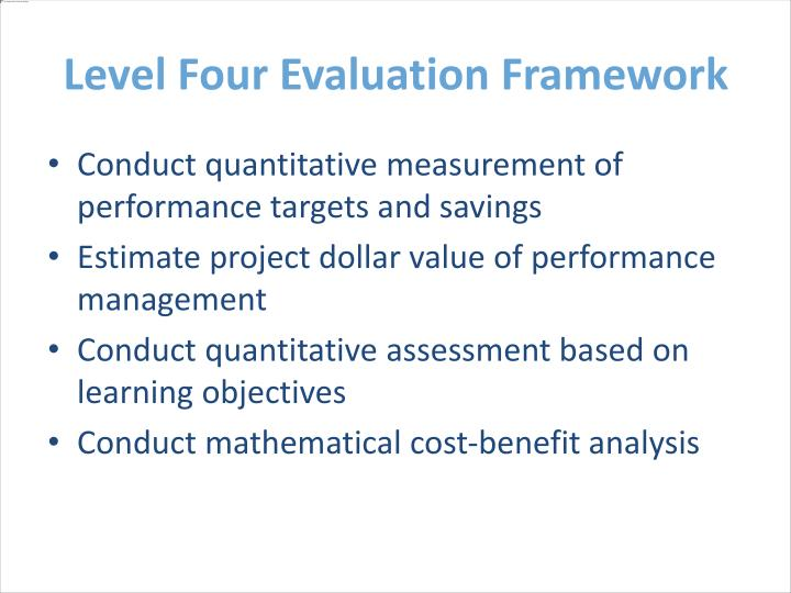 Level Four Evaluation Framework