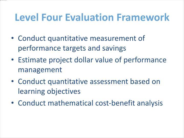 Level Four Evaluation Framework