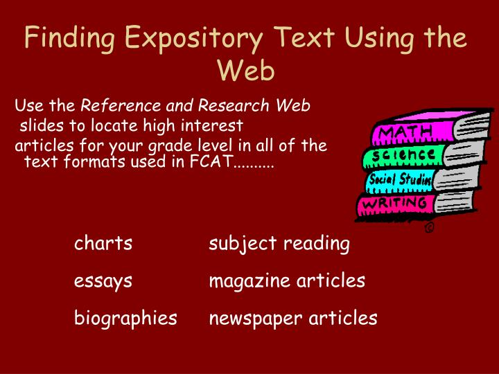 Finding Expository Text Using the Web