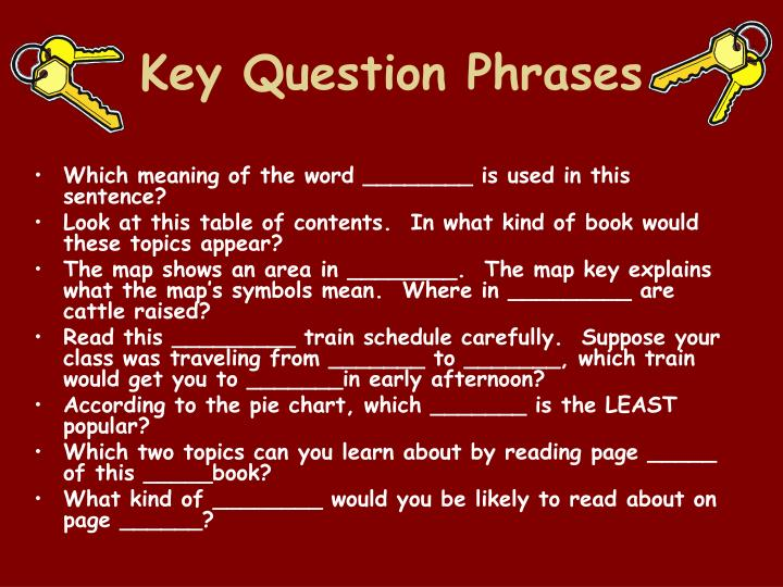 Key Question Phrases