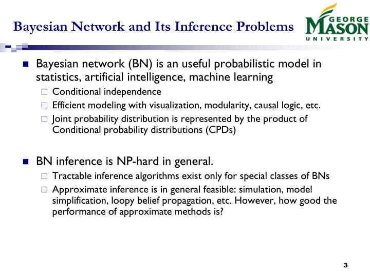 Bayesian network and its inference problems