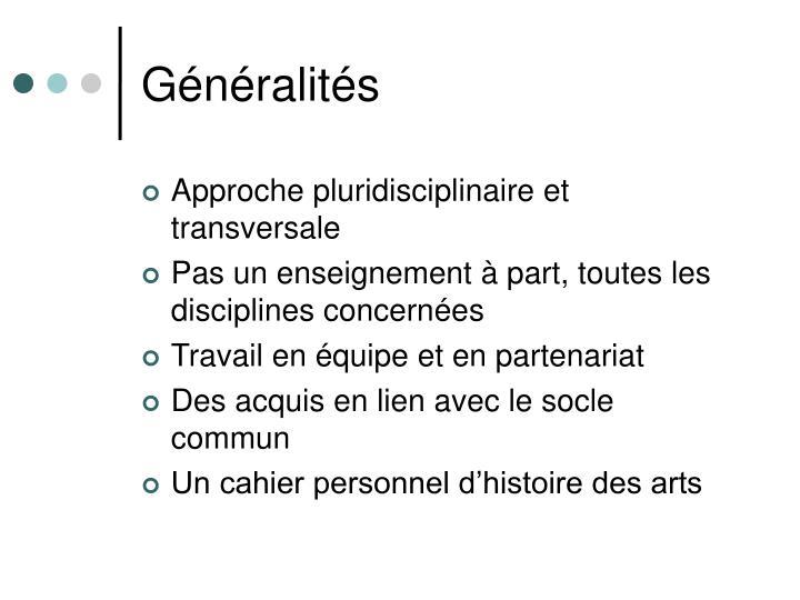 Généralités