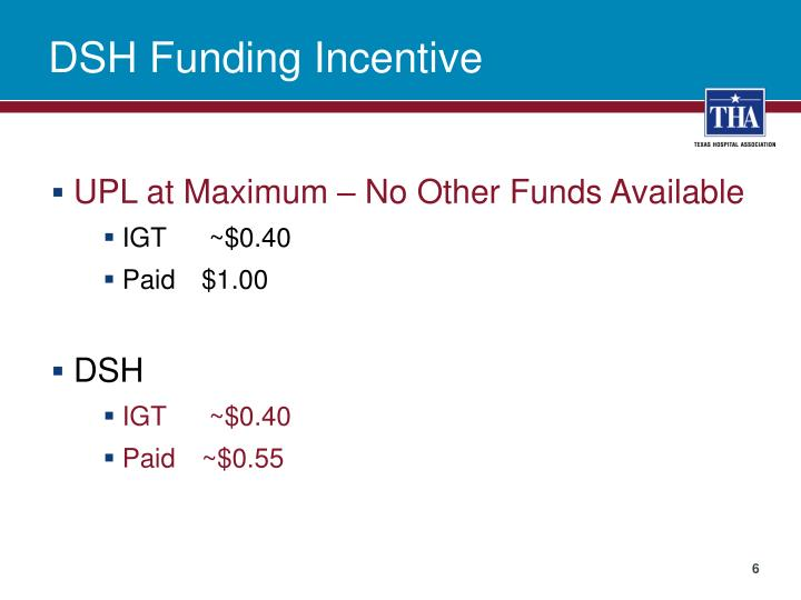 DSH Funding Incentive