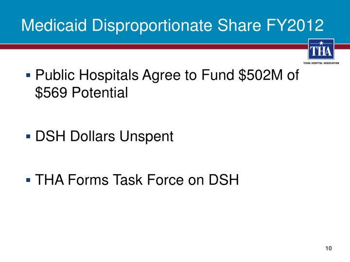 Medicaid Disproportionate Share