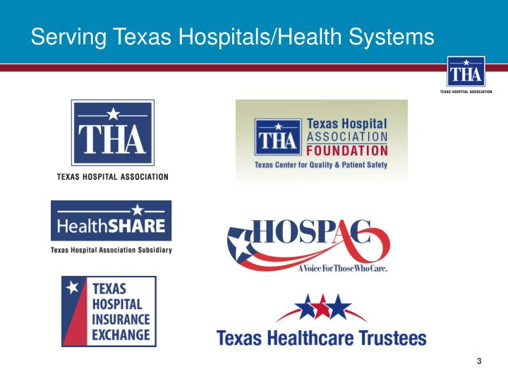 Serving Texas Hospitals/Health Systems
