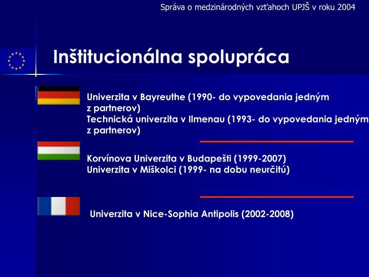 Správa o medzinárodných vzťahoch UPJŠ v roku 2004