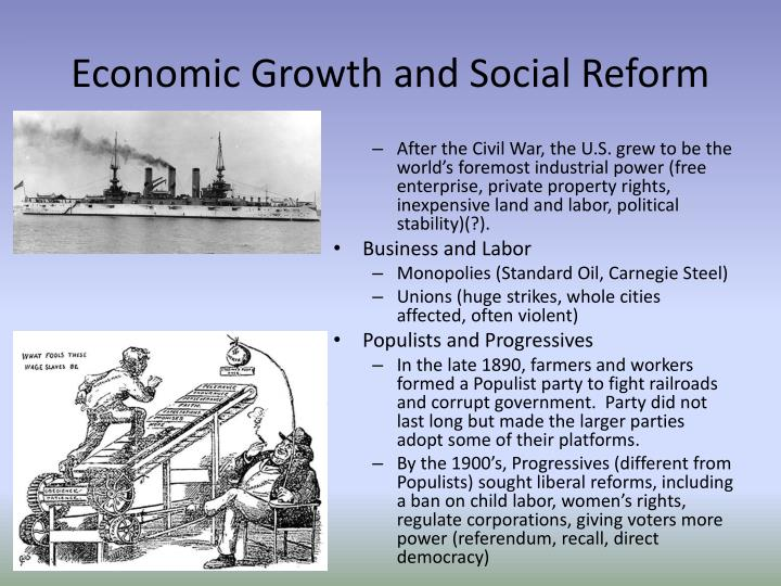 Economic Growth and Social Reform
